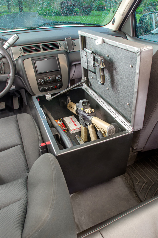 Center Console Gun Safe >> Console Bunker and Car Safes : BedBunker Safes