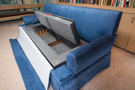 Couch Bunker Safe And Hidden Safe Furniture Bedbunker Safes